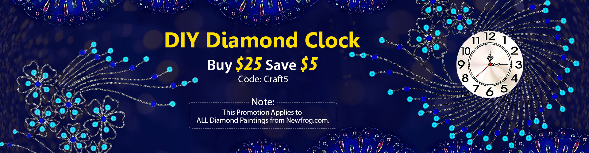 DIY Diamond Clock