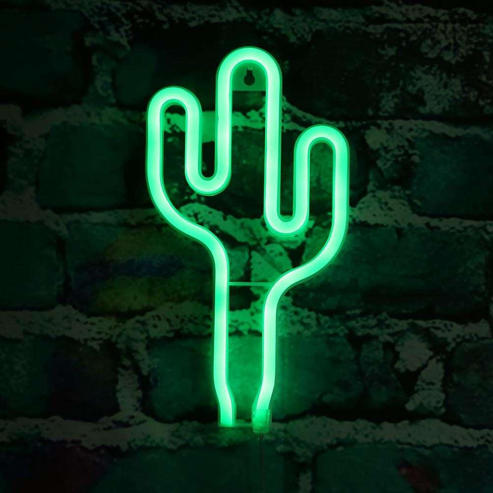 LED Night Light USB Battery Box Neon Lamp Home Decoration Gr