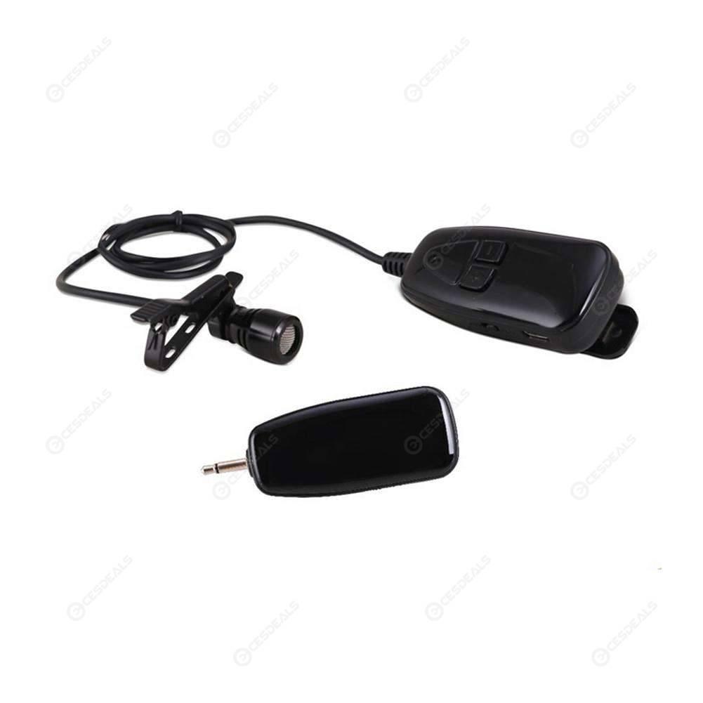 180204757e1 2.4G Wireless Microphone Lapel Clip Microphone Rechargeable Voice Amplifier  ...