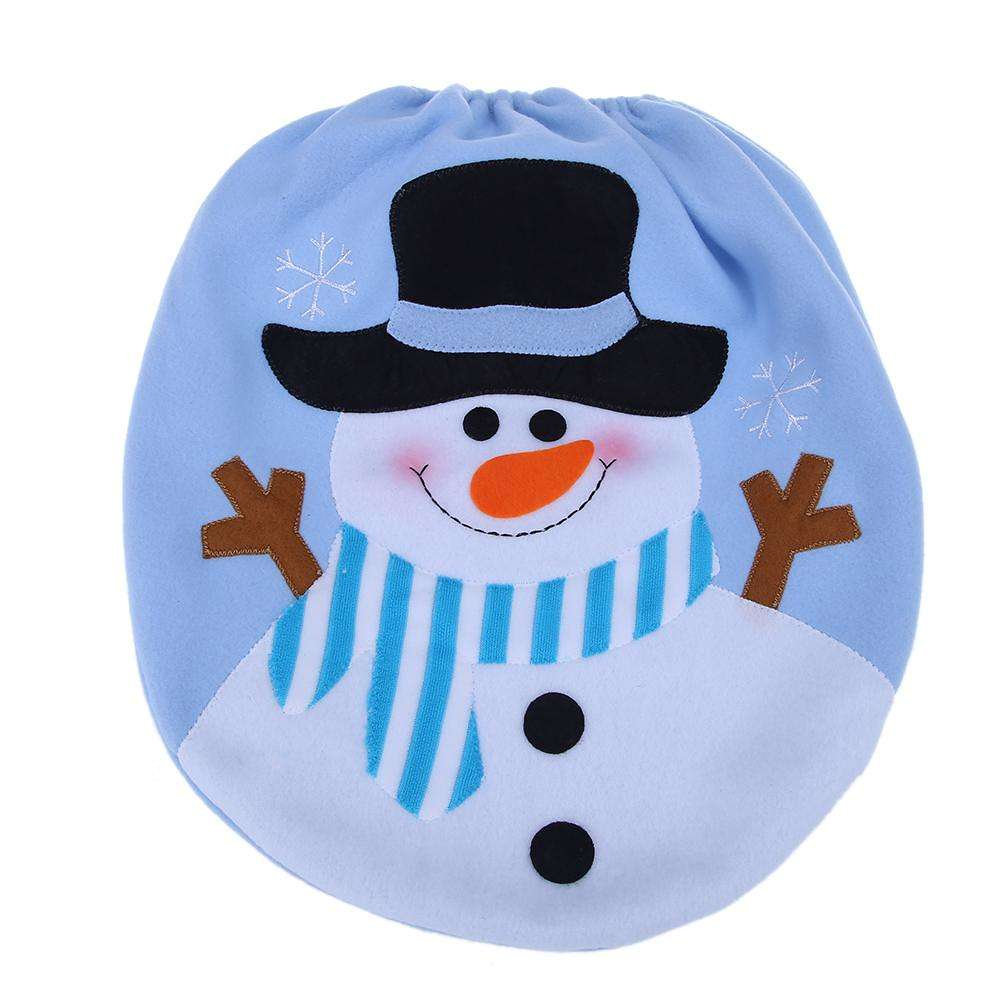 Phenomenal 2Pcs Christmas Snowman Toilet Lid Seat Cover Rug Foot Mat Non Slip Bathroom Cjindustries Chair Design For Home Cjindustriesco