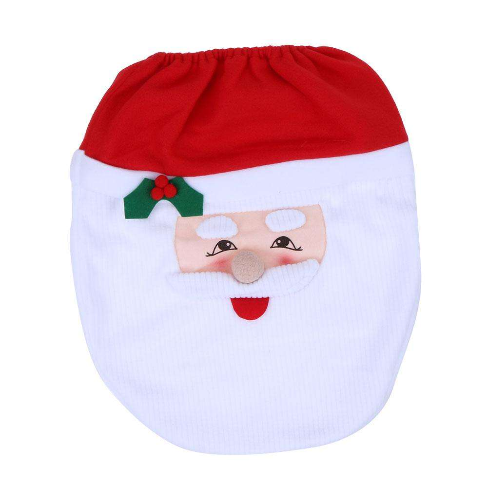 1pc Toilet Seat Cover Christmas Decor Christmas Toilet