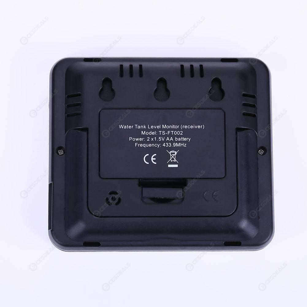 da 0,5 m a 15 m Misuratore livello liquido serbatoio ad ultrasuoni wireless con trasmettitore di temperatura acqua serbatoio e viti di montaggio