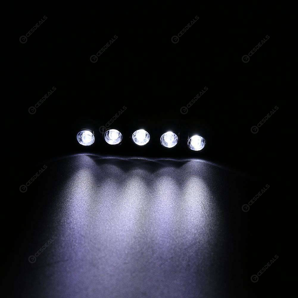 5 LED Battery Power Head Cap Hat Clip Light Lamp for Hunting Fishing