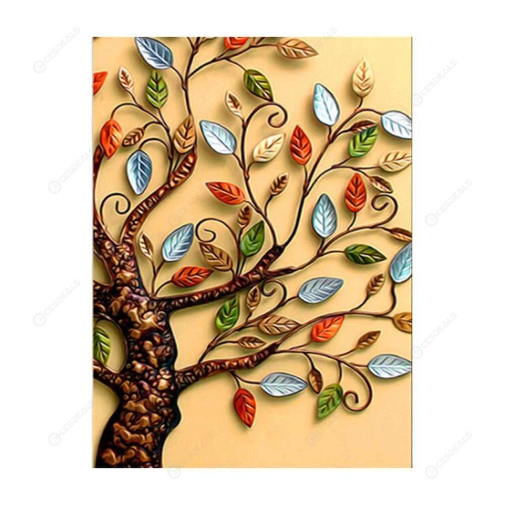 25D Blätter Baum Diamond Gemälde-Stickerei DIY-Cross Stitch Home Decor