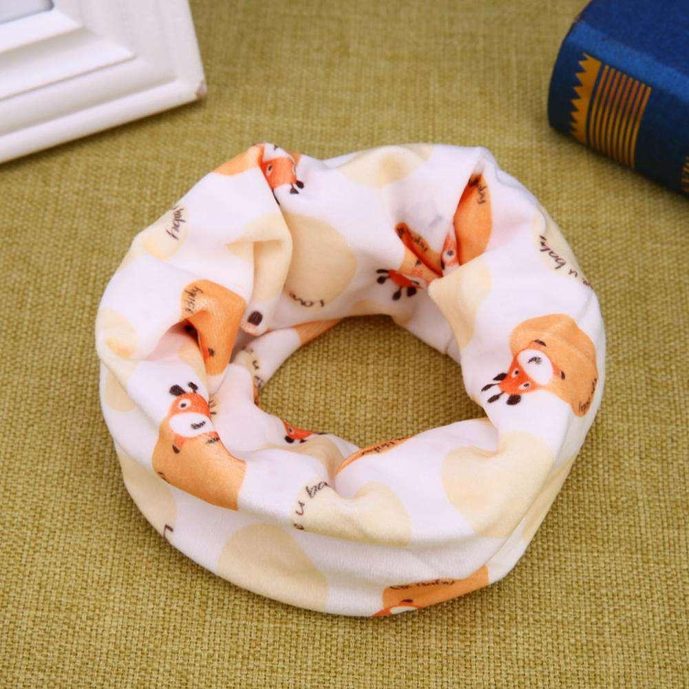 Kids Cartoon écharpe Automne Hiver Garçons Filles Coton O Ring cou chaud foulards