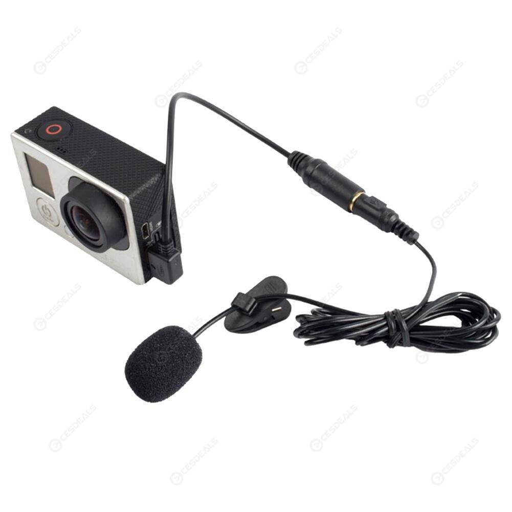 Professional Mini USB External Mic Microphone With Clip for GoPro Hero 3/3+