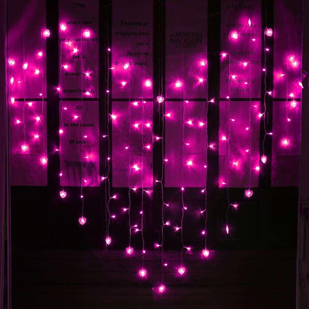 LED-forme de coeur fée String rideau léger Valentine jour Wedding Party De
