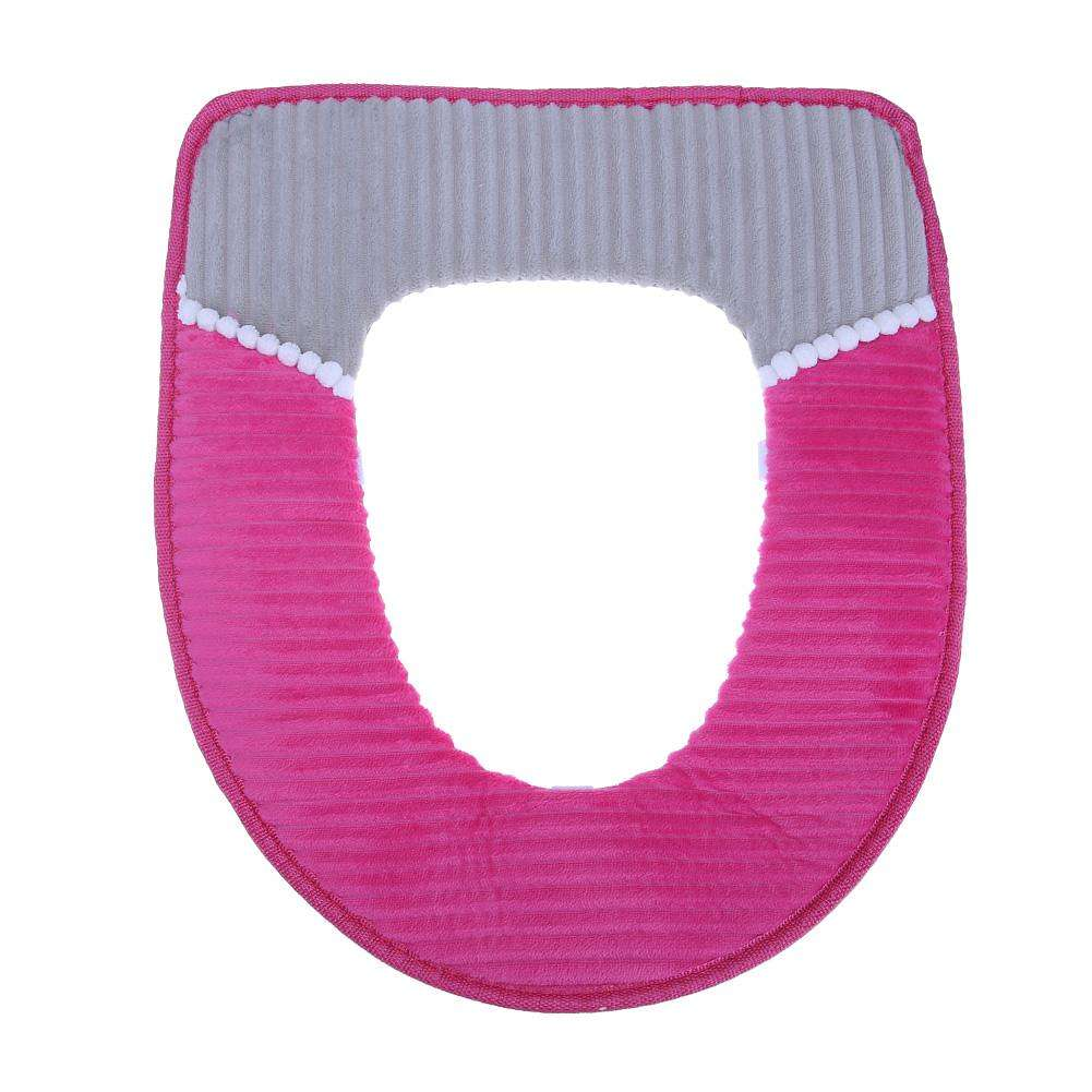Amazing O Shape Toilet Seats Soft Thick Knitted Toilet Seat Cushion Rose Red Machost Co Dining Chair Design Ideas Machostcouk