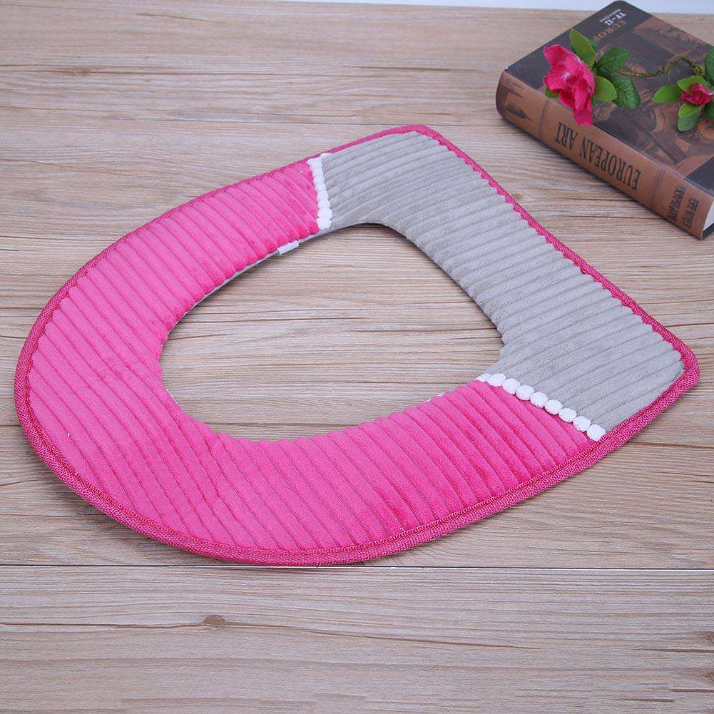 Peachy O Shape Toilet Seats Soft Thick Knitted Toilet Seat Cushion Rose Red Machost Co Dining Chair Design Ideas Machostcouk