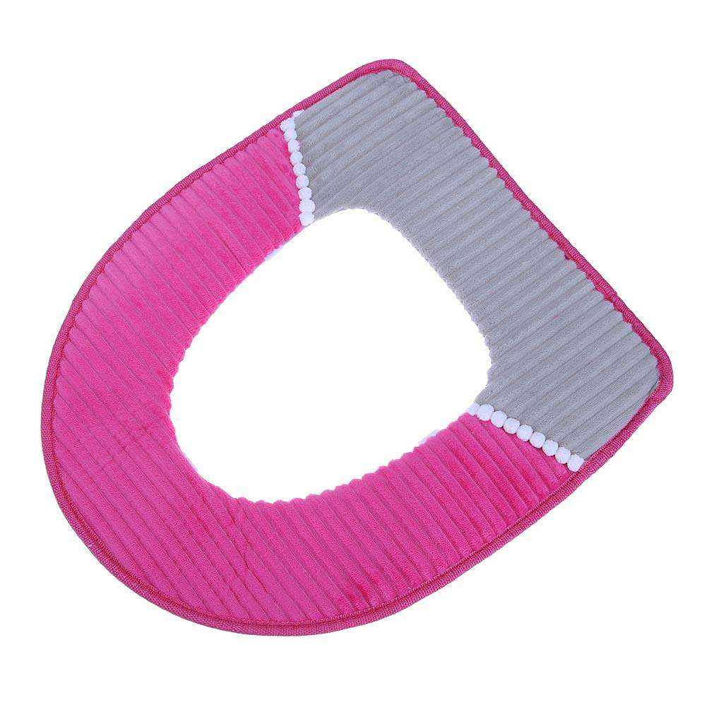 Sensational O Shape Toilet Seats Soft Thick Knitted Toilet Seat Cushion Rose Red Machost Co Dining Chair Design Ideas Machostcouk