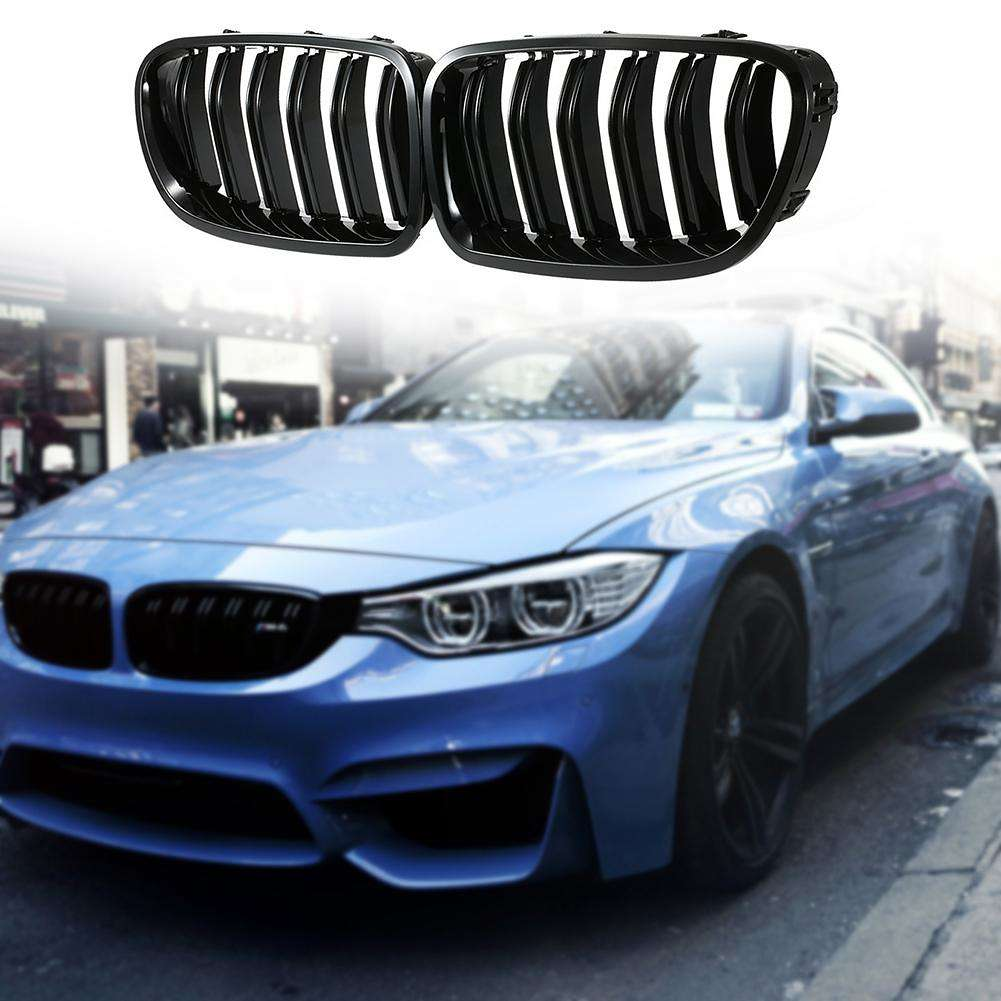 1 Pair Front Kidney Grille for BMW F10 F18 5 Series 10-14 Car Racing Grille