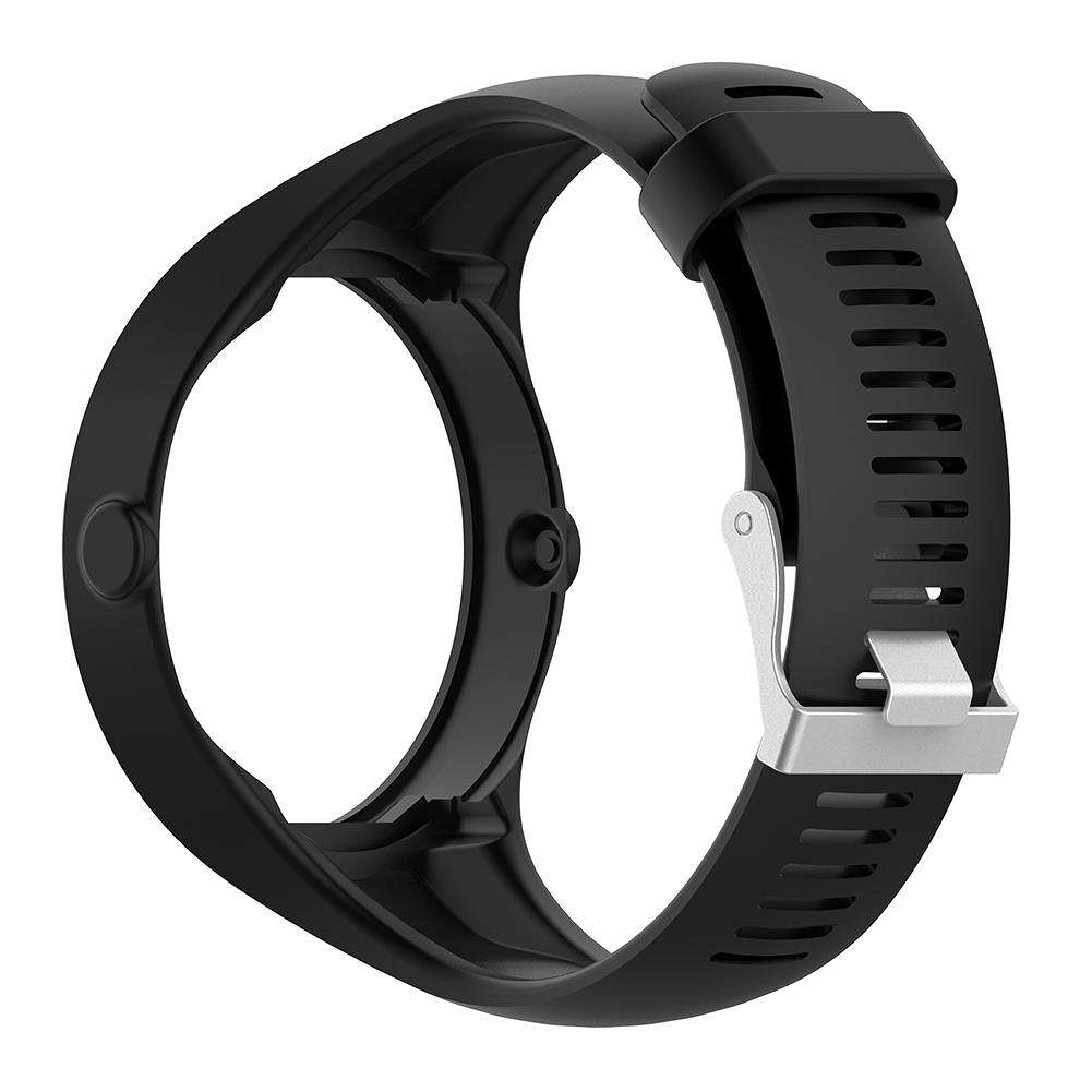 Watchband Replacement for Polar M200 Smart Watch with Buckle(Black)