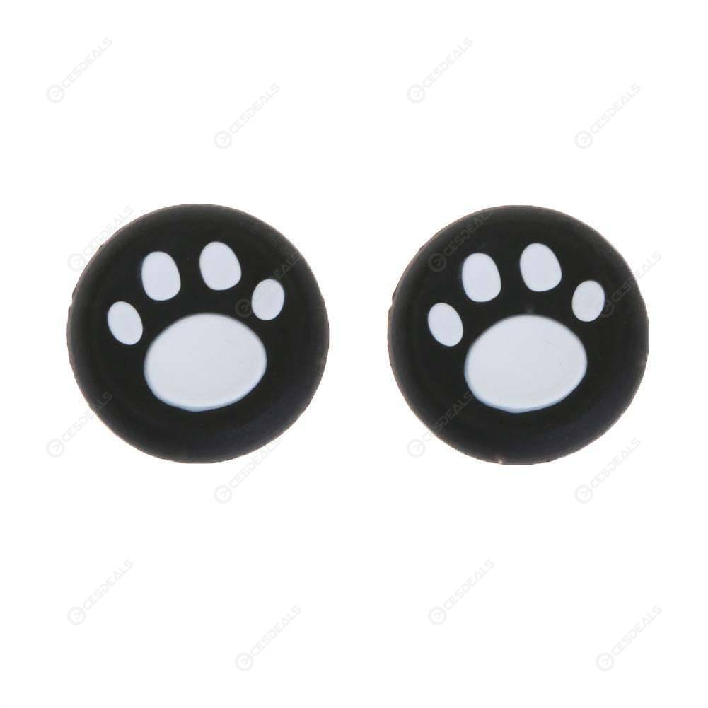 2pcs Kitty Palm Pattern Game Controller Button Cap for PS4/PS3/Xbox(White)
