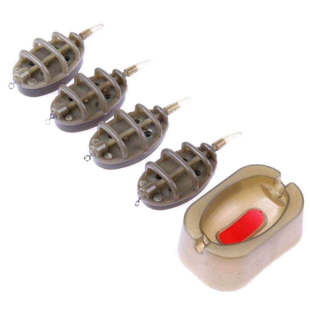 Set Karpfenangeln Inline Method Feeder 4 Feeder 15//20//25//35 g 30//40//50//6R U/_M