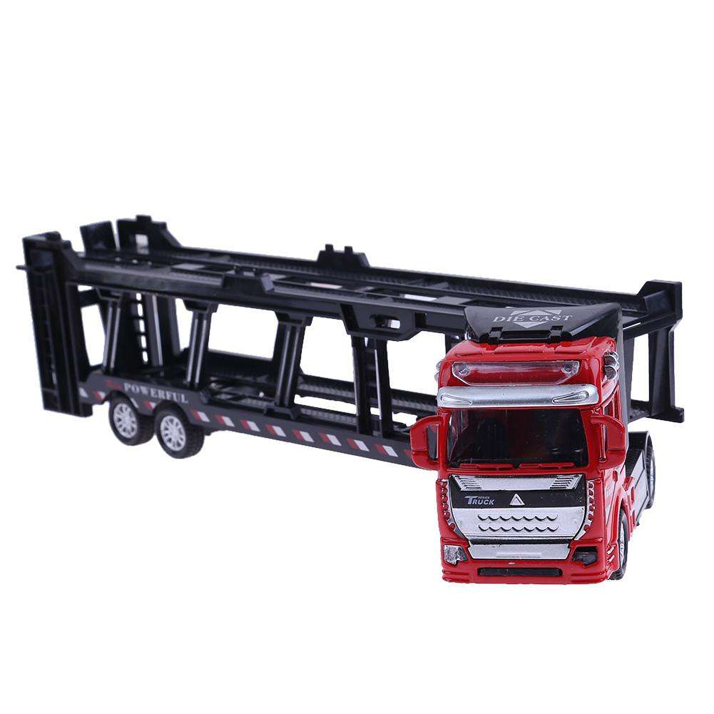 1:48 Alloy Transport Truck Alloy Vehicles Model Pull Back Simulation Toy