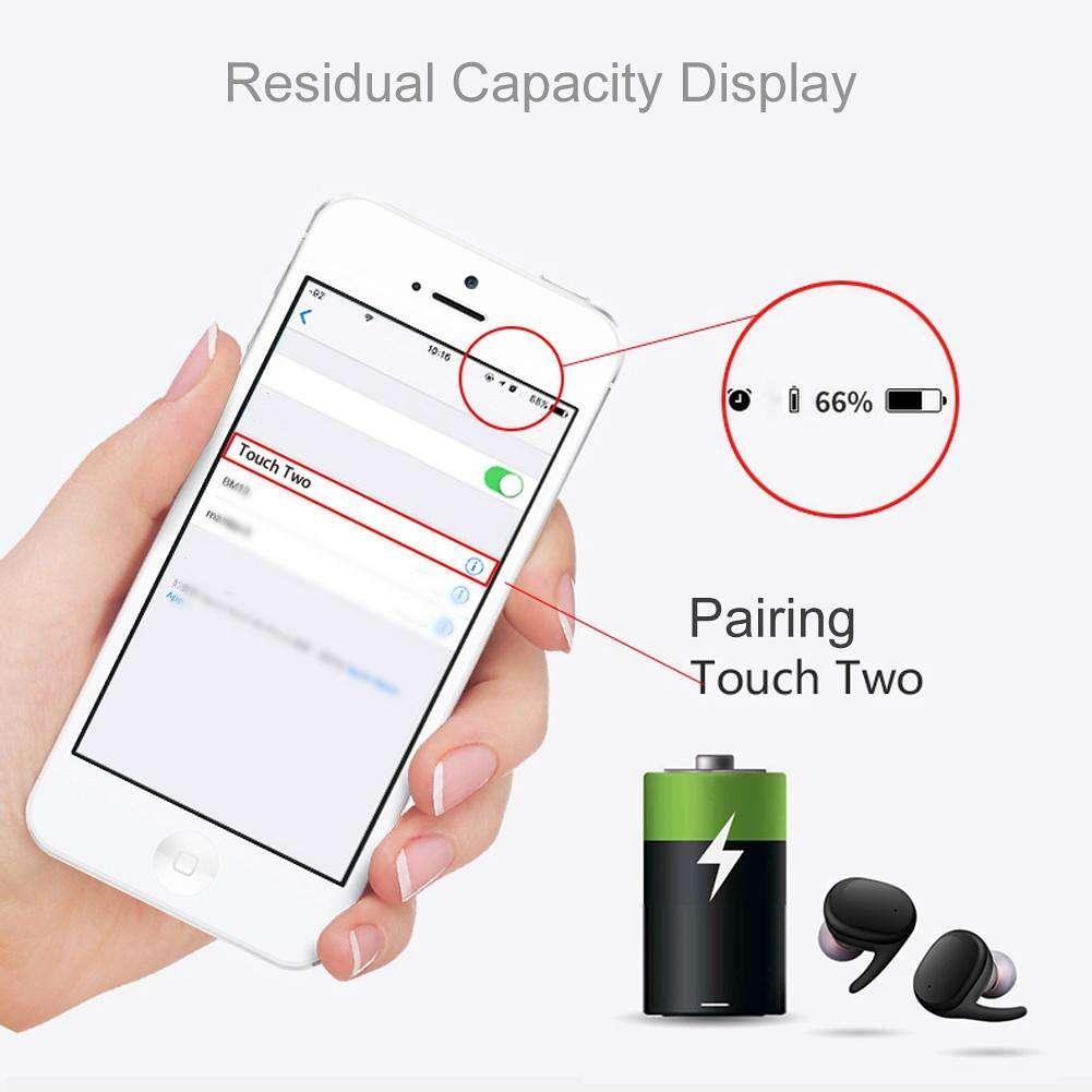 Mini TWS Waterproof Wireless Binaural Bluetooth Stereo Touch Earbuds