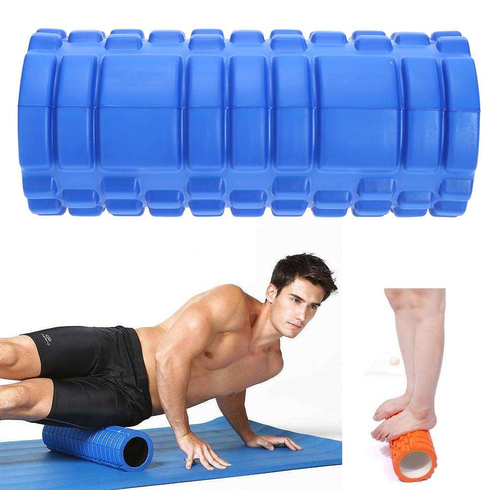 BLUE Premium Trigger-Point Foam Roller Massage Roller Exercise Yoga Fitness