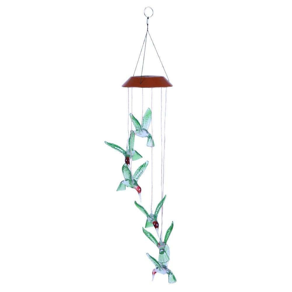 Zonne Energie Led Solar Light Wind Klokkenspel Lamp Kinderen Verjaardag Cadeau Slaapkamer Yard Garden Decoratief Wind Klokkenspel Vogellamp Neuriën