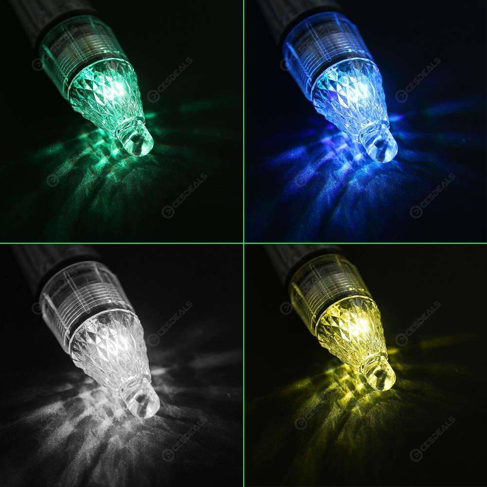 5pcs Deep Drop Underwater Fish Attracting Lure LED Fishing Flash Battery Powered
