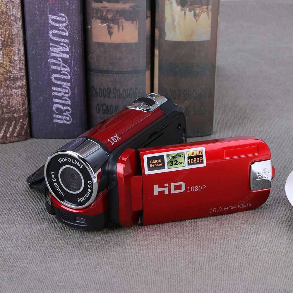 Digital Video Camera Full HD 1080P 32GB 16x Zoom Camcorder DV Camera(Red)