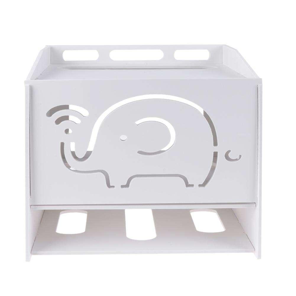 Boite Cache Prise Electrique routeur modem câble stockage box conseil fil prise de courant suspendus  boîte caché