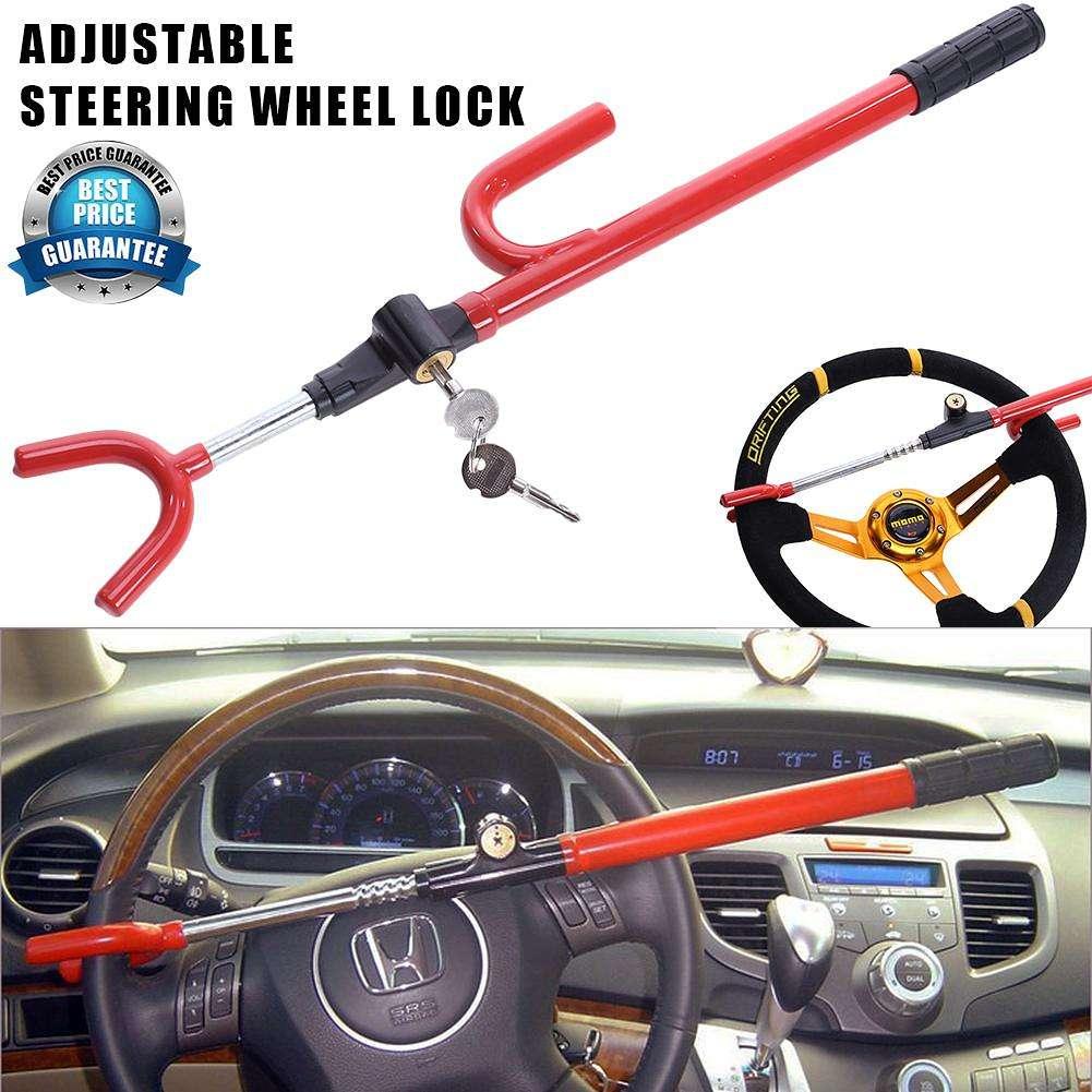 New Heavy Duty Extendable Car Wheel Steering Lock Van Caravan Anti Theft Security