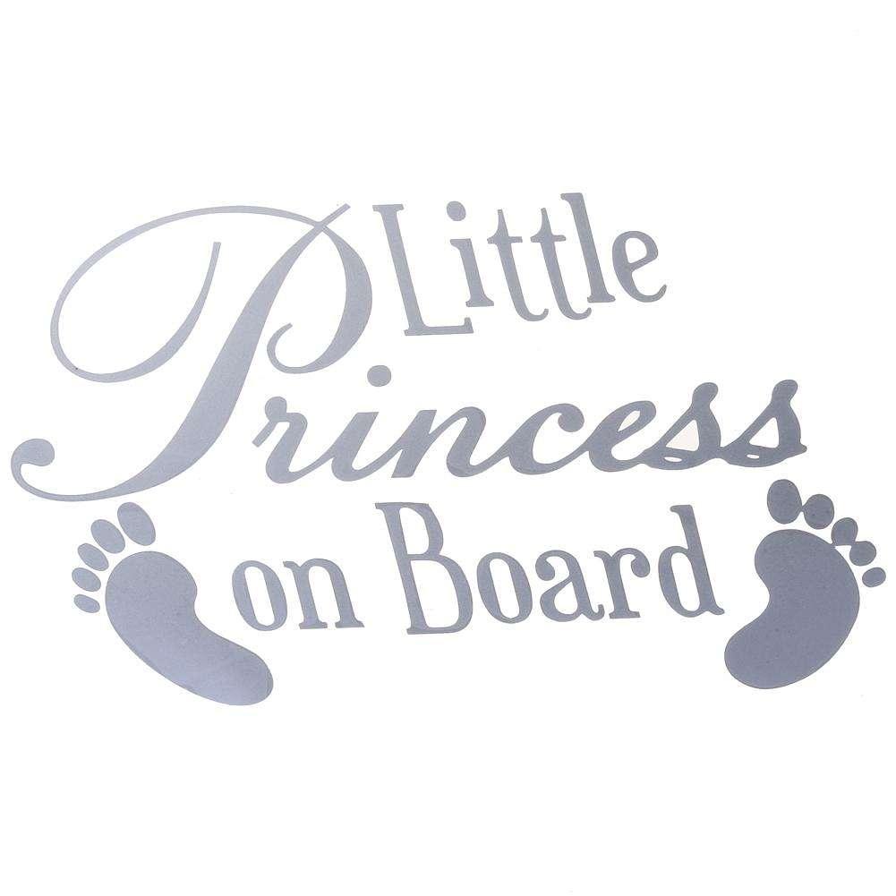 Sticker Decal in 8 colours Little Princess on Board Car Window Vinyl