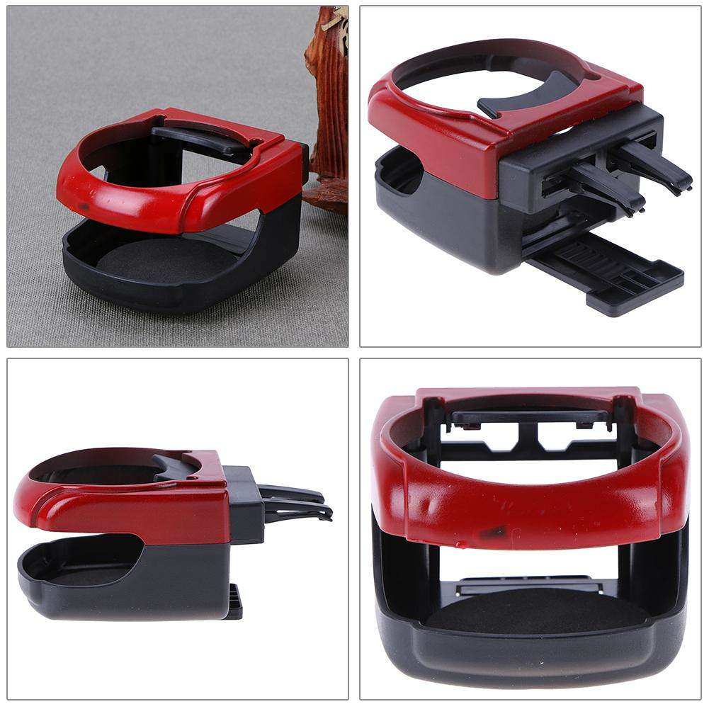 Car Outlet Water Cup Holder Plastic Drink Holder Vehicle Bottle Rack(Red)