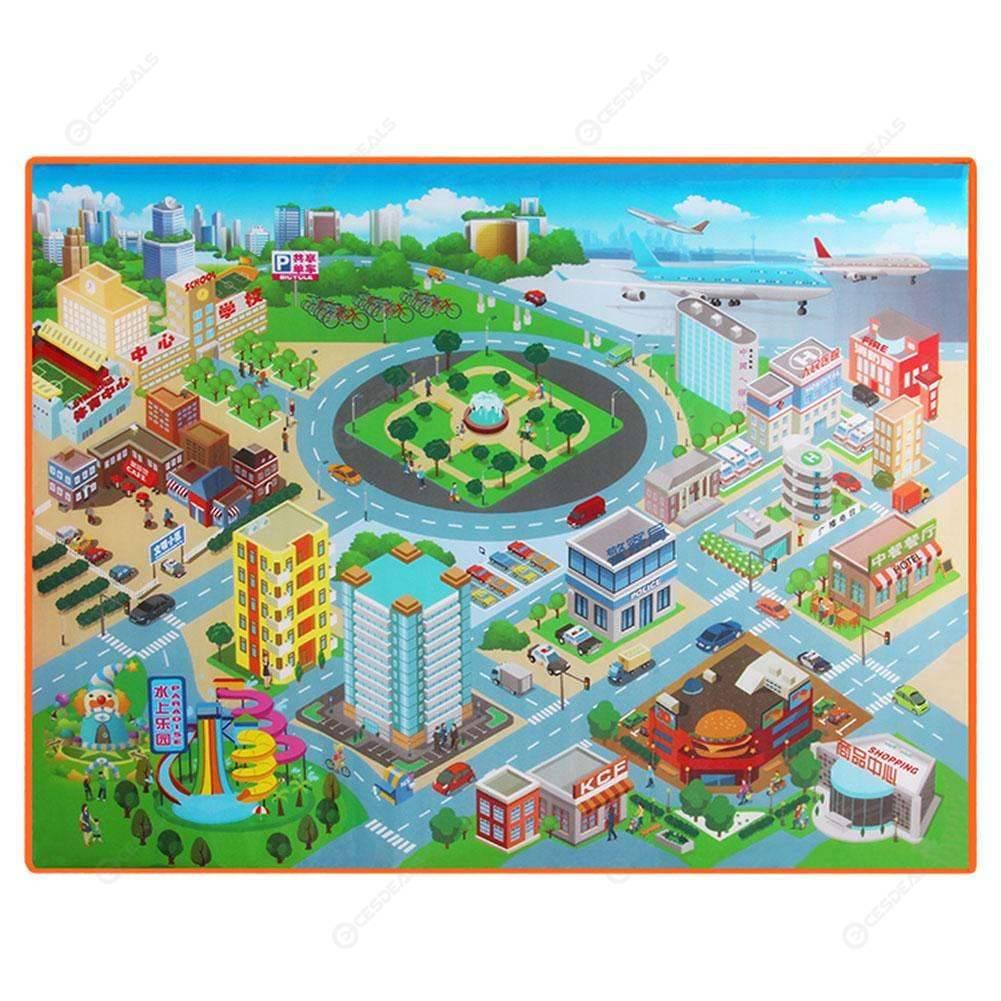 Mapa Ciudad Para Niños.Lindo Bebe Ninos Ruta Mapa Rastreros Pad 120cm Impermeable Escalada Juguete Regalo Plegable Para Ninos Ciudad De Cognicion