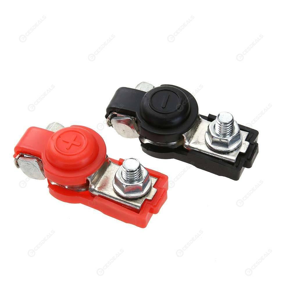 2pcs 12v Adjustable Auto Car Battery Terminal Clamp Clips Connector