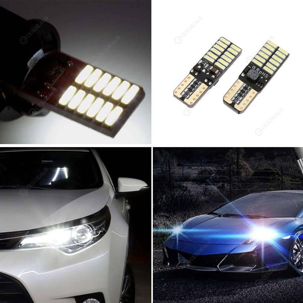 2pcs T10 4014 24 SMD LED Car Width Light License Plate Reading Lamp Bulbs