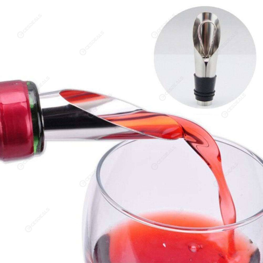 2 in 1 Stainless Steel Red Wine Stopper Pour Funnel Fresh Wine Stopper Tool, 501 Original