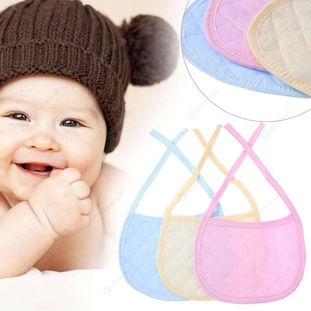 3pcs Newborn Baby Bibs Pure Cotton Girl Boy Feeding Saliva Bibs Towel