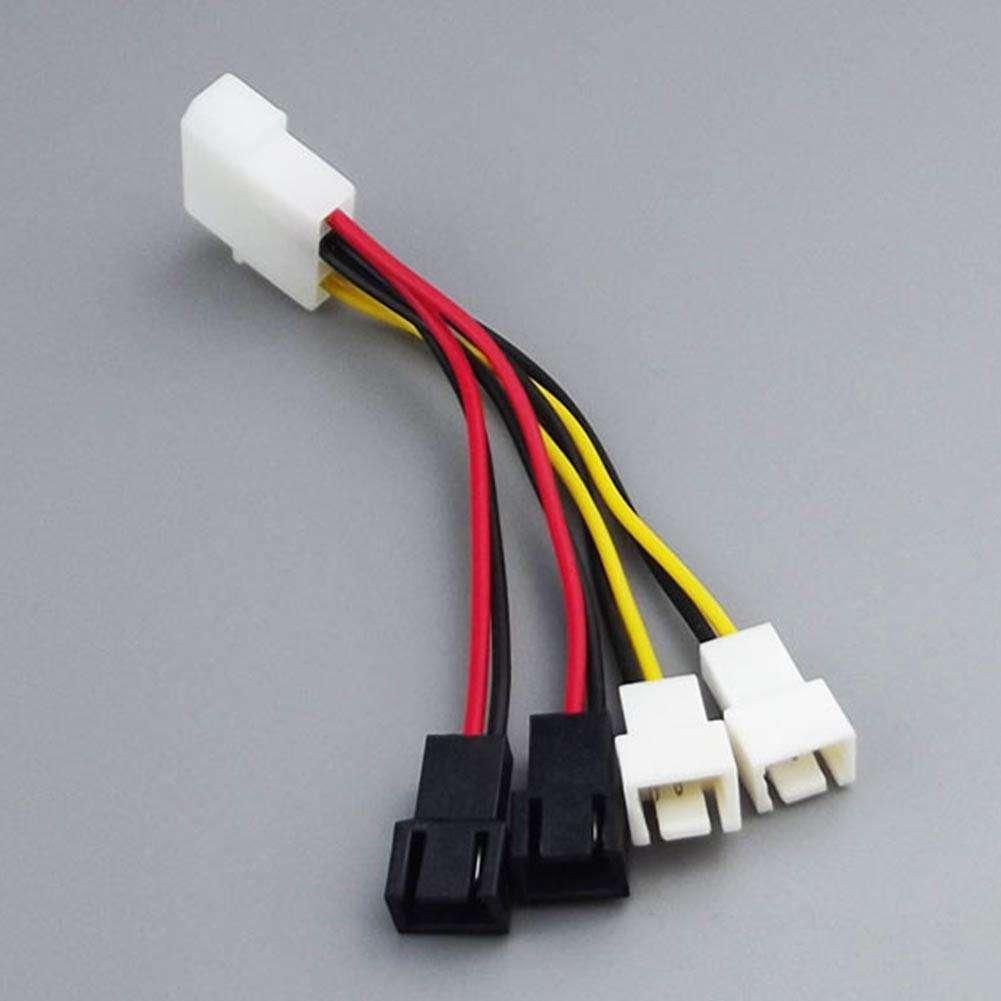 2 Pin Molex Fan Connector: 10pcs 4-Pin Molex To 3-Pin Fan Power Cable Adapter