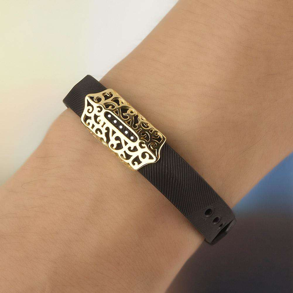 Retro Metal Frame Cover Decoration Accessory for Fitbit Flex 2(Gold)