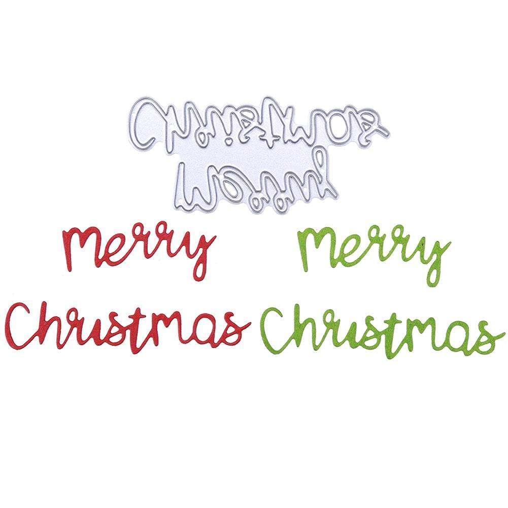 Frohe Weihnachten Schablone.Frohe Weihnachten Stanzen Schablone Scrapbook Pragung Diy Album Karte Geschenk