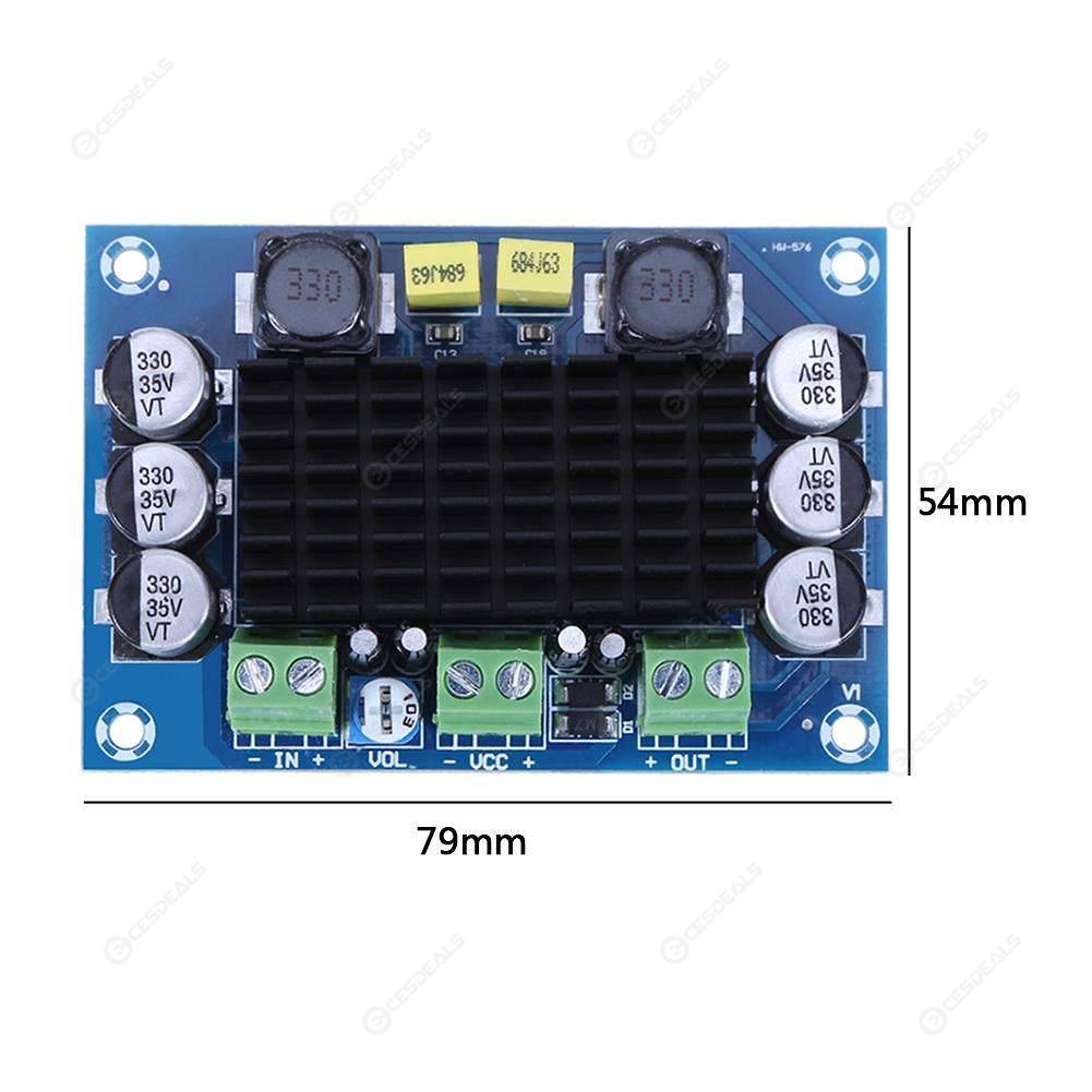 TPA3116 D2 DA DC 12V-26V 100W Mono Channel Digital Power Audio Amplifier Board