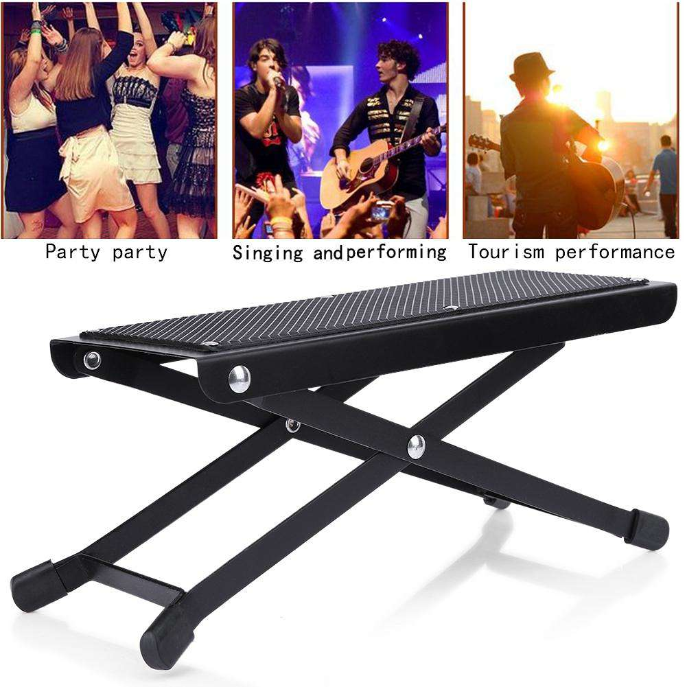 Sensational Anti Slip Guitar Foot Rest Stool Guitar Pedal 4 Adjustable Height Levels Ocoug Best Dining Table And Chair Ideas Images Ocougorg