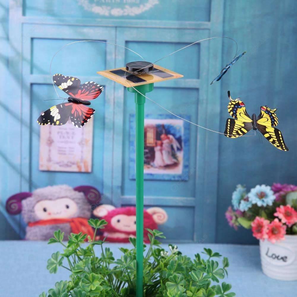 Solar Power Dancing Flying Butterflies Fluttering Garden Decoration Decor Toys