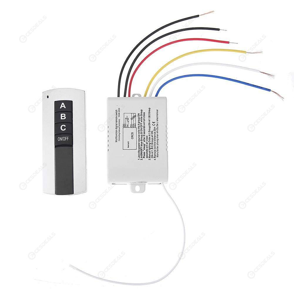 220v 3 Channel Wireless Digital Remote Control Switch For Lamp Light
