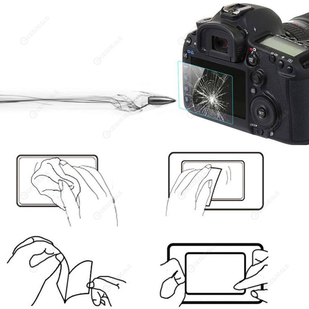 2 Película De Protección De Pantalla Transparente Suave Cámara Canon Eos 200D-vendedor de Reino Unido