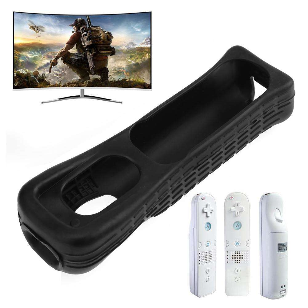 Silicone Cover Case Skin Sleeve for Nintendo Wii Remote Controller(Black)