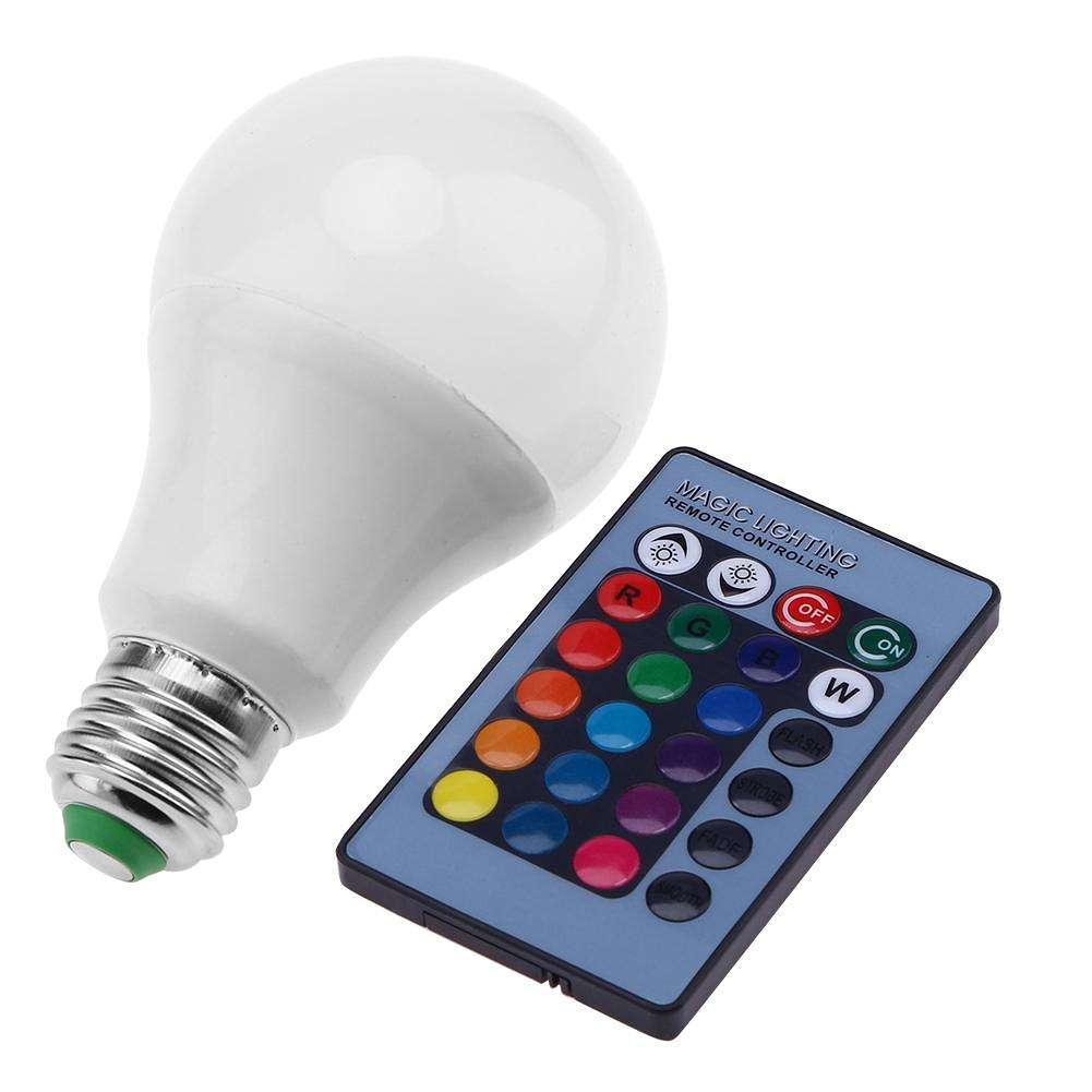 16 24 bombilla cambiante remoto lámpara clave 9W colores IR Control RGB jqzVGSMLUp