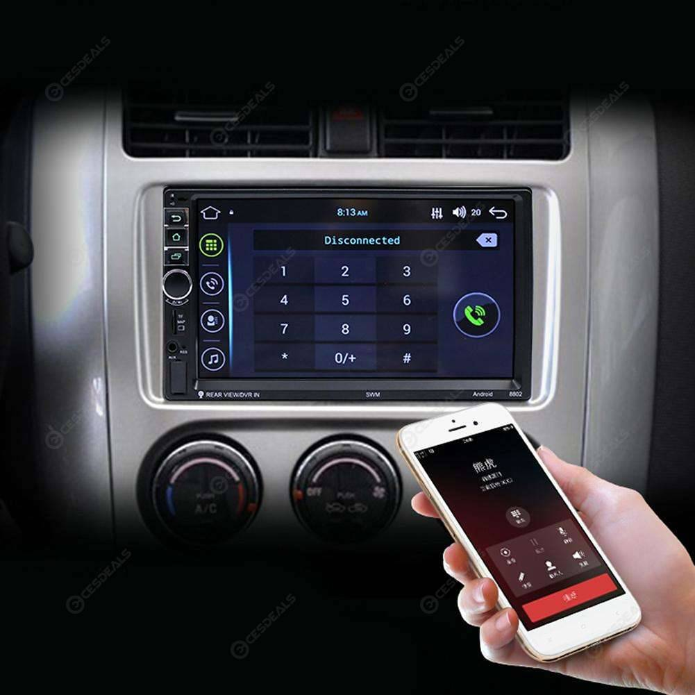 7in 2 Din Quad-core Android OS Bluetooth Car GPS Navigator 1080P MP5 Player