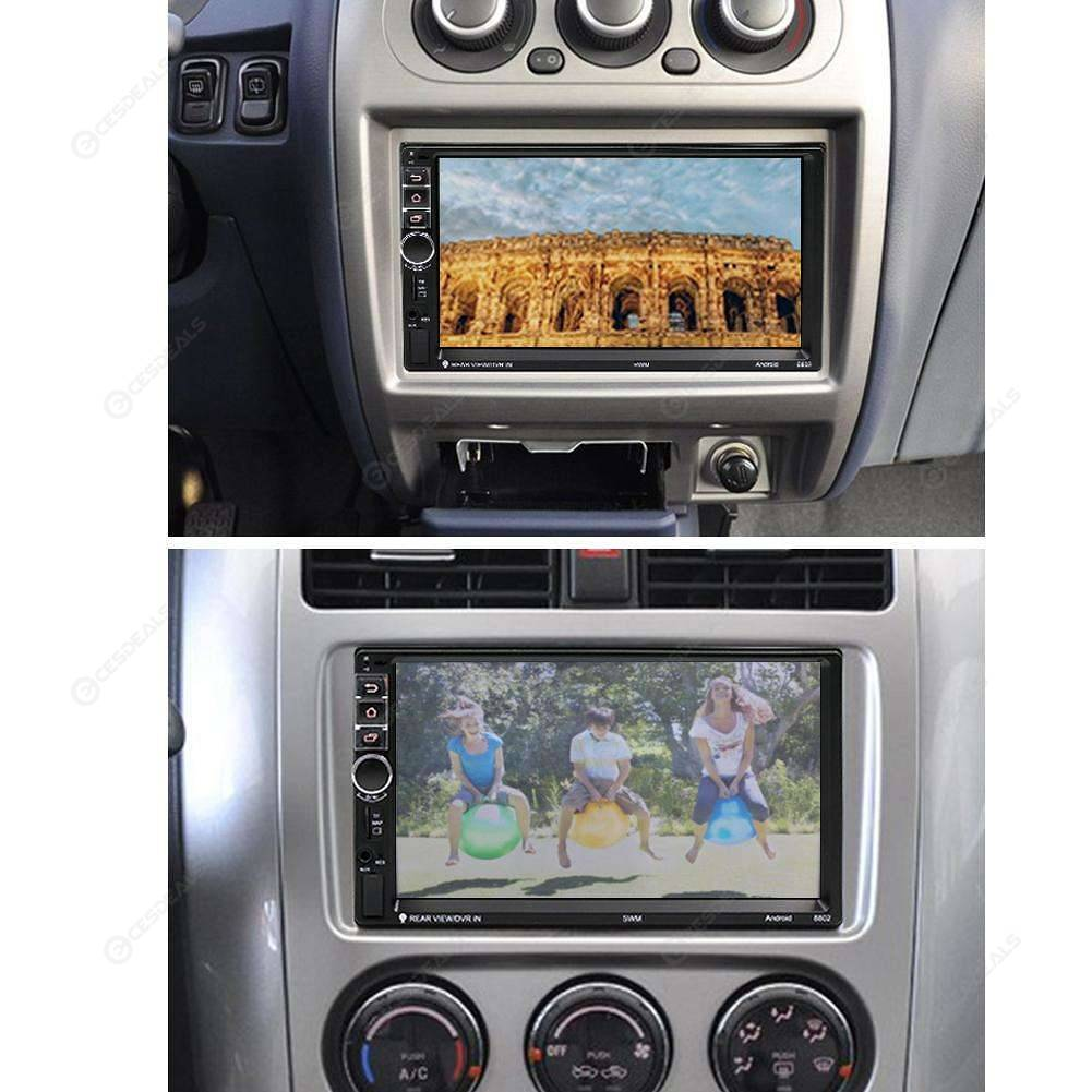 7in Touch Screen 2Din Android Bluetooth Car GPS Navigator MP5 Player+Camera