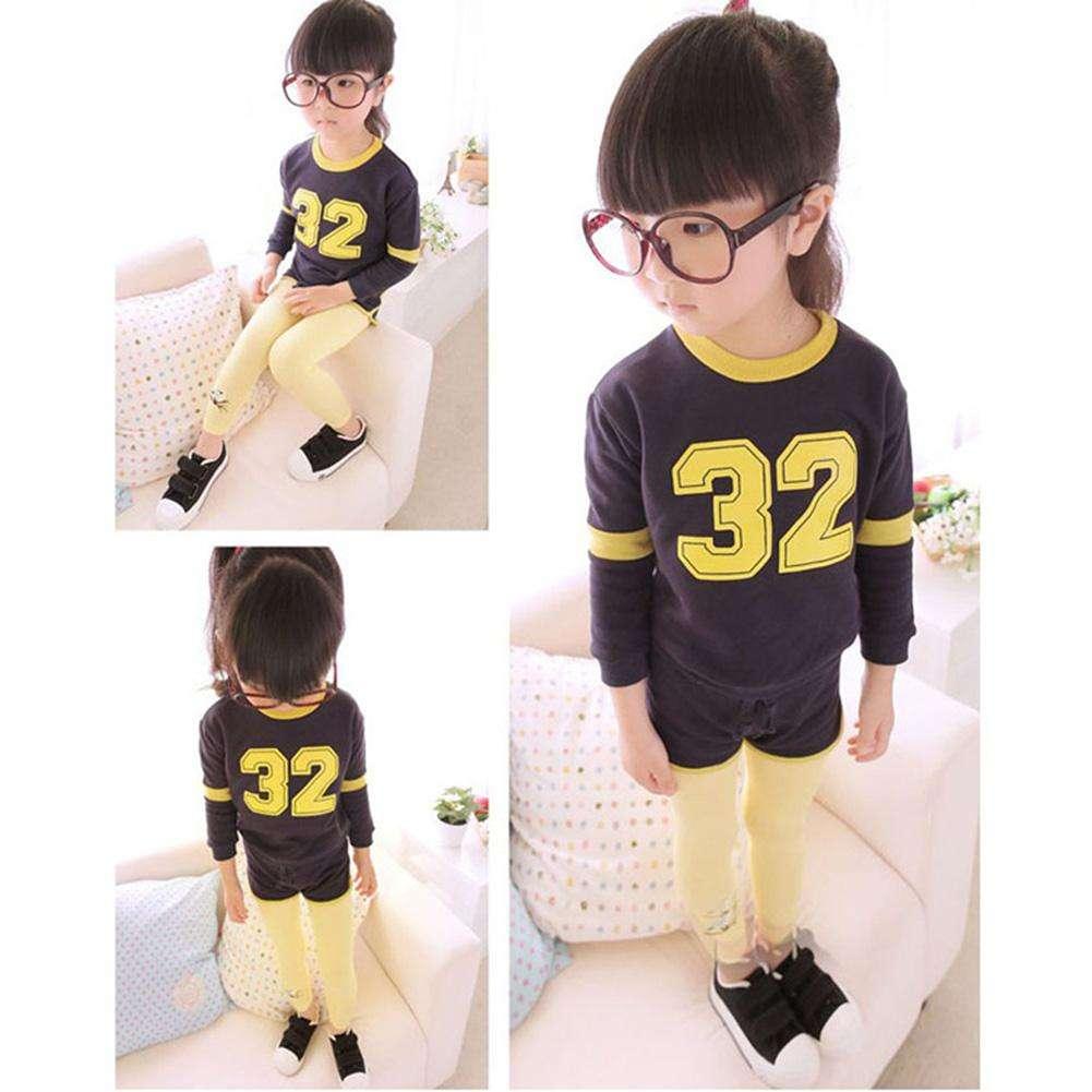 Spring Girls Korean Leggings Pants Embroidered Bird Trousers Green 4-5T