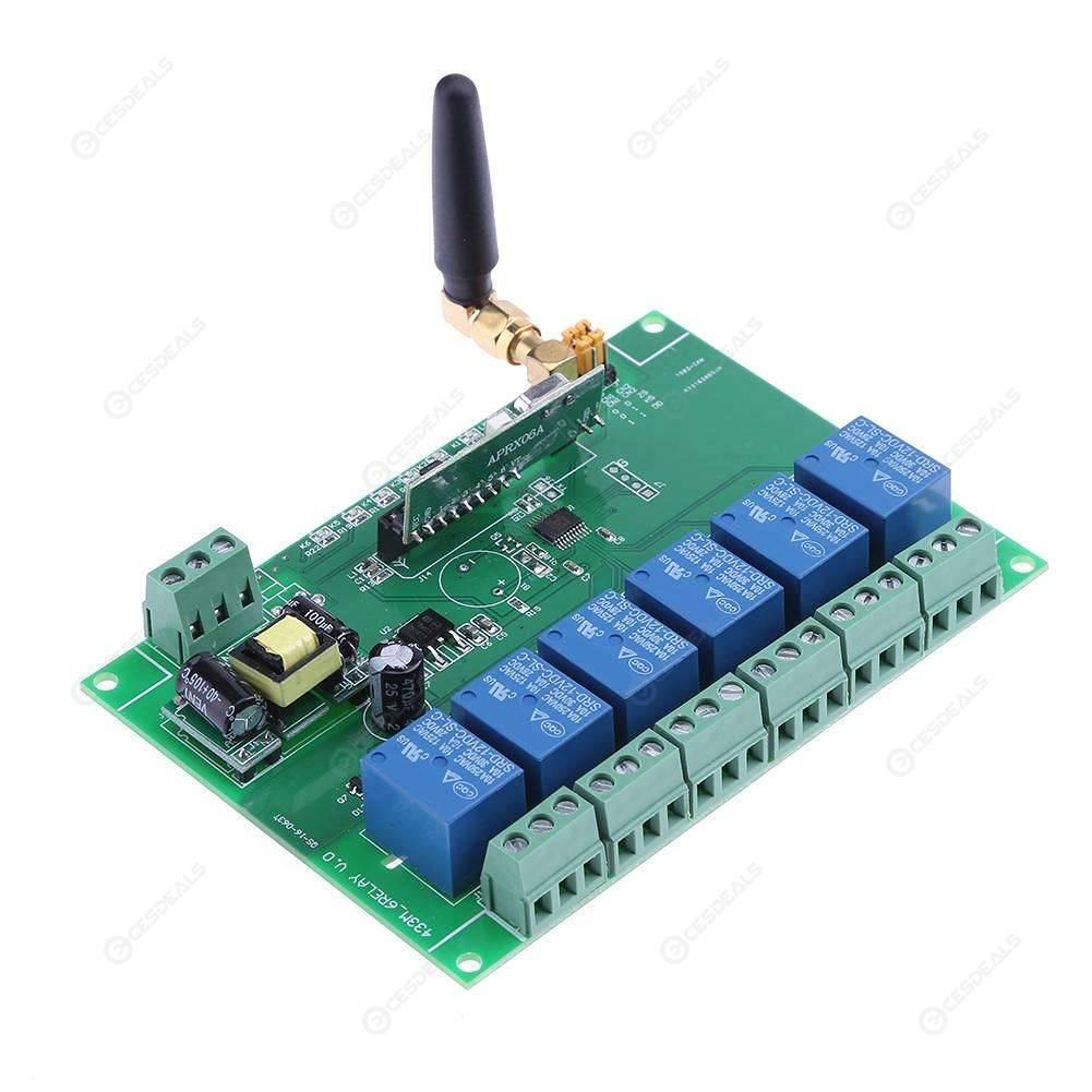110-240V Relay Module Board 6 Channel RF Relay Board with Remote Control