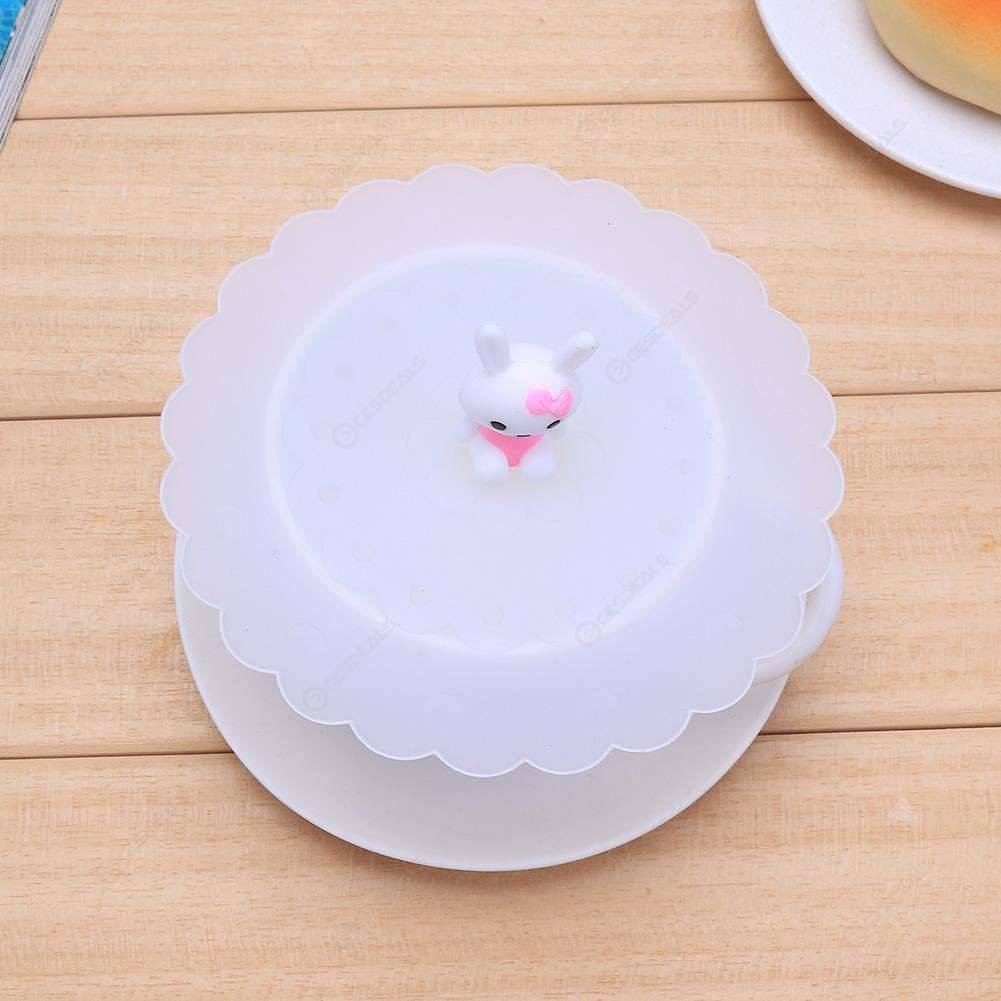 Cartoon Silicone Transparent Insulation Anti-Dust Cup Cover Tea Sealing Lid 501 Original фото