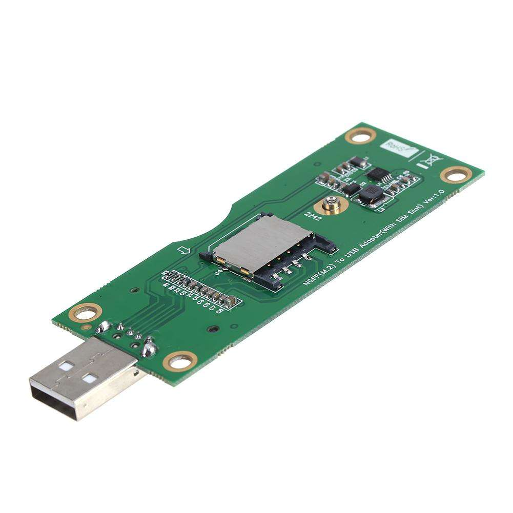 NGFF M.2 to USB Adapter With SIM Card Slot for WWAN//LTE//4G Module NEW