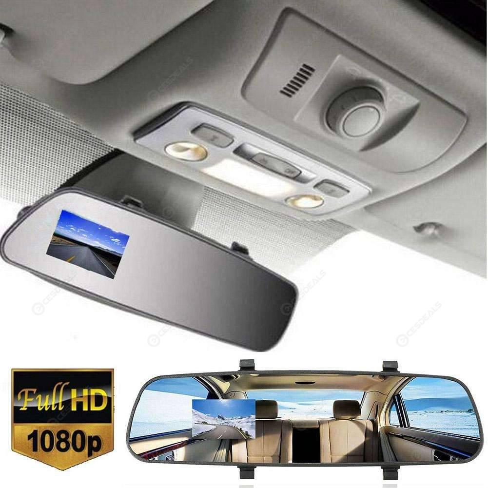 JPEG Full HD 1080P 3.5 Video Recorder Dash Cam Rearview Mirror Car Camera DVR US